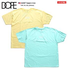 ドープ DOPE Tシャツ 半袖 定番ロゴ メンズ レディース 黄色 ミント M L XL 2L LL 2XL 3L XXL 大きいサイズ b系 ヒップホップ ストリート系 ファッション ブランド 服 かっこいい おしゃれ シンプル ワンポイント ゆったり ビッグシルエット オーバーサイズ D2017-T101