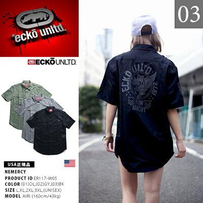 ECKO-UNLTD(エコーアンリミテッド)の半袖シャツ(総柄)