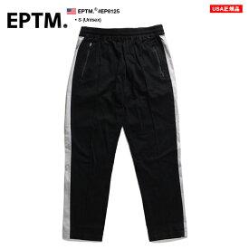 エピトミ EPTM ラインパンツ チノパン アンクルパンツ くるぶし丈 スリム ストレッチ ロングパンツ 長ズボン メンズ 黒 S b系 ヒップホップ ストリート系 ファッション ブランド おしゃれ 切替 シンプル ミニマル カジュアル モード ダンス アメカジ ハイモード EP8125