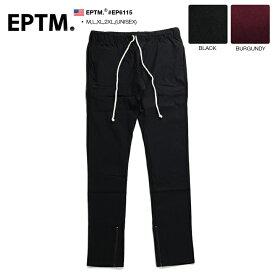 エピトミ EPTM イージーパンツ 【EP6115】 メンズ レディース トラックパンツ ロングパンツ/スリム/ストレッチ/シンプル/無地/モード/ダンス/アメリカ製/XL 2L LL 2XL 3L XXL 大きいサイズ/b系/ヒップホップ/ストリート系/ファッション/ブランド