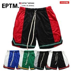エピトミ EPTM ハーフパンツ ジャージ バスパン バスケットボールパンツ ショートパンツ ショーツ 半ズボン イージーパンツ メンズ 黒赤 青白 緑白 黒グレー 黒白 S M L XL 2L LL 大きいサイズ b系 ヒップホップ ストリート系 ファッション ブランド おしゃれ ライン EP8369
