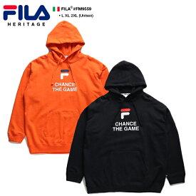 フィラ FILA フードパーカー スウェット 長袖 メンズ レディース オレンジ 黒 L XL 2L LL 2XL 3L XXL 大きいサイズ b系 ヒップホップ ストリート系 スポーツ ファッション 服 かっこいい おしゃれ ドルマンスリーブ ビッグシルエット オーバーサイズ スポーツ FM9559