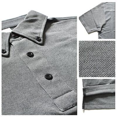 無地(ムジ)のポロシャツ(半袖)