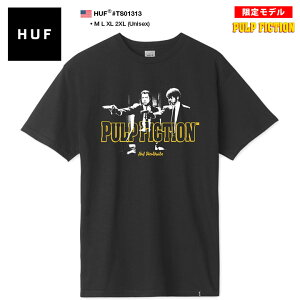 ハフ HUF 映画 PULP FICTION パルプ・フィクション 限定 コラボ Tシャツ 半袖 メンズ 黒 M L XL 2L LL 2XL 3L XXL 大きいサイズ b系 スケート ストリート系 ファッション ブランド 服 かっこいい おしゃれ