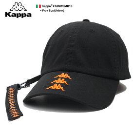 カッパ Kappa 帽子 キャップ ローキャップ ボールキャップ CAP メンズ レディース 黒 男女兼用 b系 ヒップホップ ストリート系 スポーツ ファッション ロングストラップ 刺繍 BANDA バンダ ロゴ 刺繍 かっこいい おしゃれ スポーツ ダンス スケート イタリア K09W8MB10