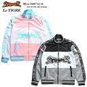 ルティグレ Le TIGRE トラックジャケット ジャージ 上 アウター スタンドカラー ジップアップ 長袖 スポーツ メンズ ピンク 黒 M L XL …