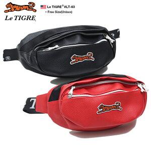 ルティグレ Le TIGRE ボディバッグ ウエストバッグ ウエストポーチ BAG メンズ レディース 黒 赤 男女兼用 b系 ヒップホップ ストリート系 ファッション ブランド かっこいい おしゃれ 2リットル