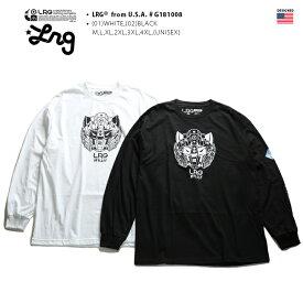 エルアールジー LRG ロンT 【G181008】 メンズ レディース Tシャツ 長袖 かっこいい おしゃれ 袖プリント ロボットアニメ 白黒 Mサイズ b系 ストリート系 ファッション ブランド 服