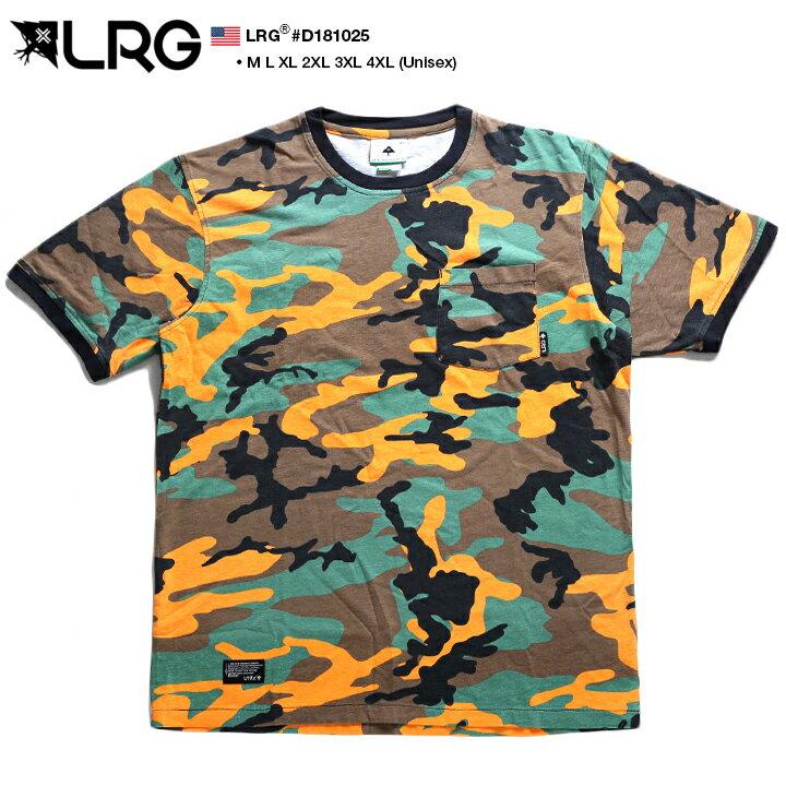 【送料無料】Tシャツ 半袖 迷彩柄 オレンジ 【J181032】 エルアールジー LRG かっこいい メンズ レディース カラー ビッグシルエット アウトドア M L XL 2L LL 2XL 3L XXL 3XL 4L XXXL 4XL 5L XXXXL 大きいサイズ b系 ヒップホップ ストリート系 正規品 【楽ギフ_包装】