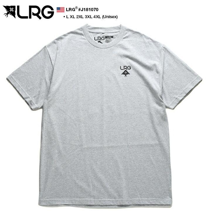 エルアールジー LRG Tシャツ 半袖 メンズ レディース グレー L XL 2L LL 2XL 3L XXL 3XL 4L XXXL 4XL 5L XXXXL 大きいサイズ b系 ヒップホップ ストリート系 ブランド 服 かっこいい おしゃれ 定番ロゴ プリント ビッグシルエット オーバーサイズ ワンポイント J181070