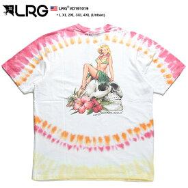 エルアールジー LRG Tシャツ 半袖 総柄 メンズ レディース 白 L XL 2L LL 2XL 3L XXL 3XL 4L XXXL 4XL 5L XXXXL 大きいサイズ b系 ヒップホップ ストリート系 服 かっこいい おしゃれ カラフル タイダイ染め ロコ ハワイアン フラガール 美女 ハイビスカス スカル D191019