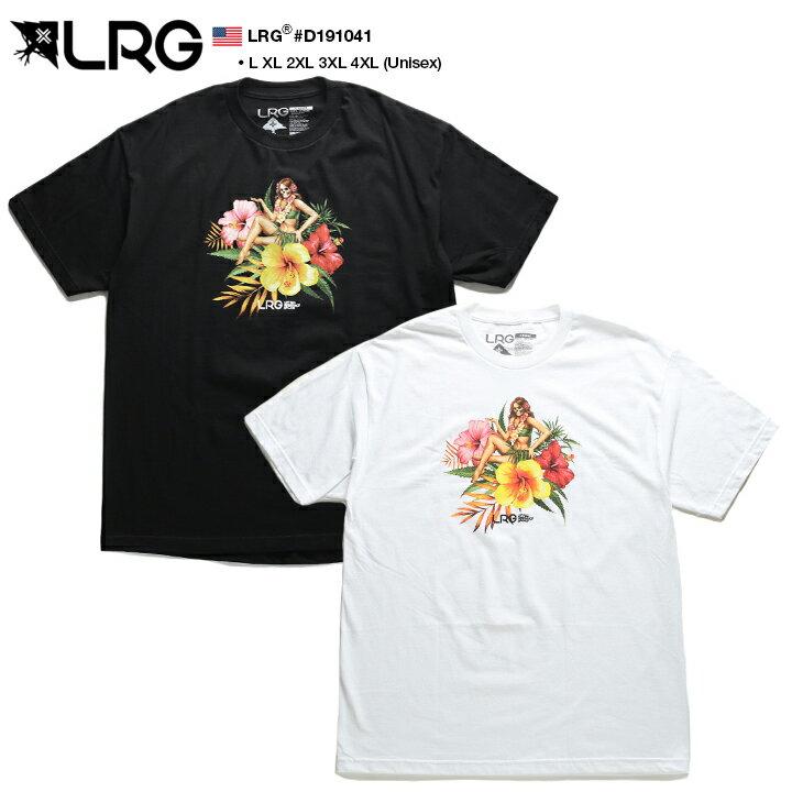 エルアールジー LRG Tシャツ 半袖 メンズ レディース 黒 白 L XL 2L LL 2XL 3L XXL 3XL 4L XXXL 4XL 5L XXXXL 大きいサイズ b系 ヒップホップ ストリート系 ブランド 服 かっこいい おしゃれ ハワイアン ハイビスカス フラガール スカル プリント ビッグシルエット D191041