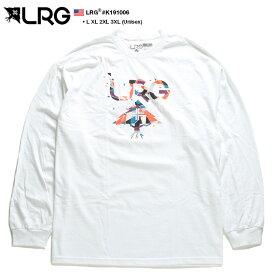 エルアールジー LRG ロンT ロングスリーブTシャツ 長袖 メンズ 白 L XL 2L LL 2XL 3L XXL 3XL 4L XXXL 大きいサイズ b系 ヒップホップ ストリート系 ファッション ブランド おしゃれ 幾何学柄 カラフル 定番ロゴ シンプル オーバーサイズ ビッグシルエット ギフト K191006