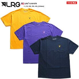 エルアールジー LRG Tシャツ 半袖 シンプル メンズ レディース ゴールド 紫 紺 L XL 2L LL 2XL 3L XXL 3XL 4L XXXL 4XL 5L XXXXL 大きいサイズ b系 ヒップホップ ストリート系 ファッション ブランド かっこいい おしゃれ ゆったり オーバーサイズ ビッグシルエット J181070