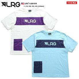 エルアールジー LRG Tシャツ 半袖 ポケット付き 切替 メンズ レディース 白 水色 L XL 2L LL 2XL 3L XXL 3XL 4L XXXL 4XL 5L XXXXL 大きいサイズ b系 ヒップホップ ストリート系 ファッション ブランド 服 おしゃれ ゆったり オーバーサイズ ビッグシルエット J201018