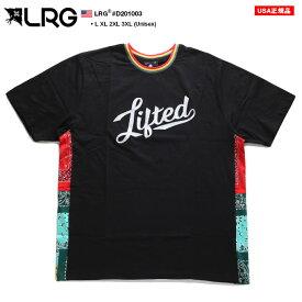 エルアールジー LRG Tシャツ 半袖 メンズ レディース 黒 L XL 2L LL 2XL 3L XXL 3XL 4L XXXL 大きいサイズ b系 ヒップホップ ストリート系 ファッション ブランド 服 かっこいい おしゃれ ペイズリー柄 バンダナ柄 切替 グラデーション ラスタ 刺繍 ゆったり D201003
