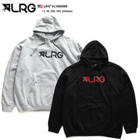 エルアールジー LRG フードパーカー スウェット 長袖 メンズ グレー 黒 L XL 2L LL 2XL 3L XXL 大きいサイズ b系 ヒップホップ ストリート系 ファッション ブランド 服 かっこいい おしゃれ ロゴ シンプル ワンポイント 裏起毛 ビッグシルエット ギフト L193009S