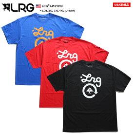 LRG Tシャツ 半袖 メンズ 青 赤 黒 L-2XL 大きいサイズ エルアールジー かっこいい おしゃれ 定番ロゴ シンプル ゆったりサイズ オーバーサイズ ビッグシルエット b系 ヒップホップ ストリート系 ファッション ブランド J181013【セール】