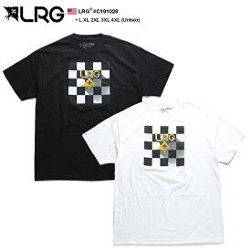 エルアールジー LRG Tシャツ 半袖 メンズ 黒 白 L XL 2L LL 2XL 3L XXL 3XL 4L XXXL 4XL 5L XXXXL 大きいサイズ b系 ヒップホップ ストリート系 ファッション ブランド 服 かっこいい おしゃれ チェッカーフラッグ柄 ブロックチェック ボックスロゴ ビッグシルエット C191028