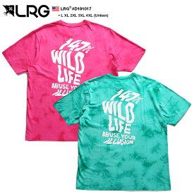 エルアールジー LRG Tシャツ 半袖 総柄 タイダイ染め メンズ ピンク 緑 L XL 2L LL 2XL 3L XXL 3XL 4L XXXL 4XL 5L XXXXL 大きいサイズ b系 ヒップホップ ストリート系 ファッション ブランド おしゃれ タイダイ染め 総柄 カラフル ハワイアン ビッグシルエット D191017
