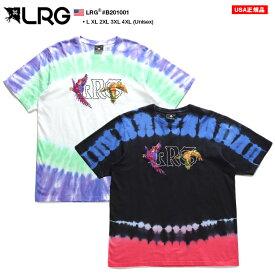 LRG Tシャツ 半袖 メンズ 白 黒 L-2XL 大きいサイズ エルアールジー かっこいい おしゃれ 総柄 タイダイ タイダイ染め カラフル 刺繍 ビッグシルエット b系 ヒップホップ ストリート系 ファッション ブランド 服 B201001【セール】