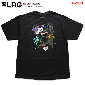 エルアールジー LRG Tシャツ 半袖 花柄 ボタニカル メンズ 黒 L XL 2L LL 2XL 3L XXL 3XL 4L XXXL 大きいサイズ b系 ヒップホップ ストリート系 ファッション ブランド 服 かっこいい おしゃれ ネオンカラー カラフル ペリカン トロピカル柄 ビッグシルエット B201016