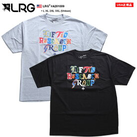 LRG Tシャツ 半袖 メンズ グレー 黒 XLサイズ 大きいサイズ エルアールジー おしゃれ 英字ロゴ スペクトルカラー ロゴ プリント シンプル ゆったり オーバーサイズ ビッグシルエット b系 ヒップホップ ストリート系 ファッション ブランド A201009【セール】