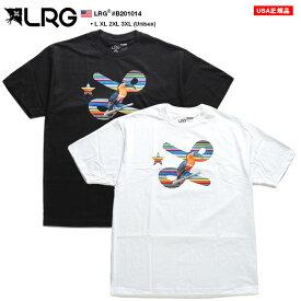LRG Tシャツ 半袖 メンズ 黒 白 L-XL 大きいサイズ エルアールジー かっこいい おしゃれ ロゴ 鳥 プリント シンプル ゆったりサイズ オーバーサイズ ビッグシルエット b系 ヒップホップ ストリート系 ファッション ブランド 服 B201014【セール】