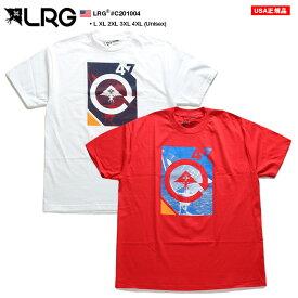 LRG Tシャツ 半袖 BOXロゴ メンズ レディース 白 赤 L-XL 大きいサイズ エルアールジー おしゃれ マリンスポーツ ヨットマン シンプル ゆったり オーバーサイズ b系 ヒップホップ ストリート系 ファッション ブランド C201004【セール】