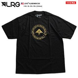 エルアールジー LRG Tシャツ 半袖 メンズ 黒 M-2XL 大きいサイズ かっこいい おしゃれ ロゴ ホイルプリント ゴールド バロック調 金箔 シンプル ビッグシルエット b系 ヒップホップ ストリート系 ファッション ブランド 服 L0B3MSCXX