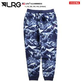 エルアールジー LRG フリース ジョガーパンツ ロングパンツ 長ズボン 防寒 メンズ 青 L XL 2L LL 2XL 3L XXL 3XL 4L XXXL 4XL 5L XXXXL 大きいサイズ b系 ヒップホップ ストリート系 ファッション ブランド 服 かっこいい おしゃれ 雪山柄 総柄 L0J9MMBXX