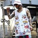 LRG ノースリーブ メンズ レディース 春夏用 白 大きいサイズ エルアールジー バスケットシャツ バスケシャツ タンク…