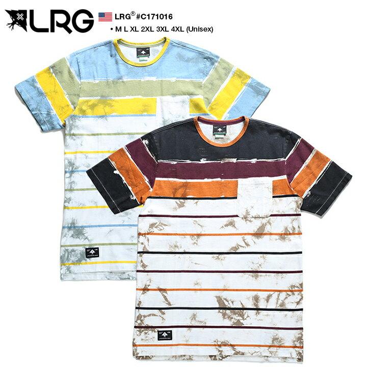 b系 ヒップホップ ストリート系 ファッション 服 メンズ レディース Tシャツ 【C171016】 エルアールジー LRG タイダイ 総柄 ボーダー ビックシルエット M L XL 2L LL 2XL 3L XXL 3XL 4L XXXL 4XL 5L XXXXL 大きいサイズ 正規品 02P03Dec16【楽ギフ_包装】