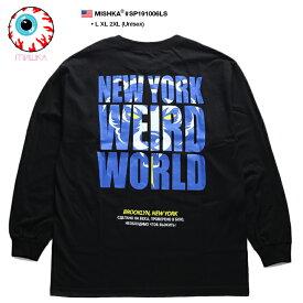 ミシカ MISHKA ロンT ロングスリーブTシャツ 長袖 メンズ レディース 黒 L XL 2L LL 2XL 3L XXL 大きいサイズ b系 ヒップホップ ストリート系 ファッション ブランド 服 かっこいい おしゃれ Death Adder デスアダー 熊 人気キャラクター ビッグシルエット SP191006LS