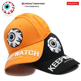 ミシカ MISHKA 帽子 キャップ ローキャップ ボールキャップ CAP メンズ レディース オレンジ 黒 男女兼用 b系 ヒップホップ ストリート系 ファッション ブランド KEEPWATCH キープウォッチ 目玉デザイン 刺繍 かっこいい おしゃれ アジア限定 NYCモデル ギフト MAW193236