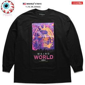 ミシカ MISHKA ロンT 長袖 メンズ 黒 ネオンカラー L XL 2L LL 2XL 3L XXL 大きいサイズ b系 ヒップホップ ストリート系 ファッション ブランド 服 かっこいい おしゃれ CYCO SIMON サイコサイモン スカル 人気キャラクター BOXロゴ ビッグシルエット 6915