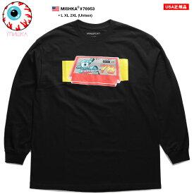 ミシカ MISHKA ロンT 長袖 メンズ 黒 L XL 2L LL 2XL 3L XXL 大きいサイズ b系 ヒップホップ ストリート系 ファッション ブランド 服 かっこいい おしゃれ KEEPWATCH キープウォッチ 目玉 人気キャラクター コンピュータゲーム ビッグシルエット 6953