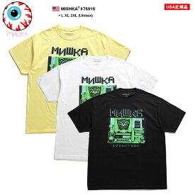 ミシカ MISHKA Tシャツ 半袖 メンズ レディース 黄色 ネオンカラー 白 黒 L XL 2L LL 2XL 3L XXL 大きいサイズ b系 ヒップホップ ストリート系 ファッション ブランド 服 かっこいい おしゃれ CYCO SIMON サイコサイモン スカル 人気キャラクター ビッグシルエット 76916