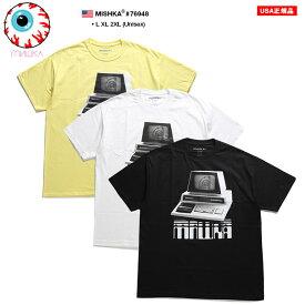 ミシカ MISHKA Tシャツ 半袖 メンズ レディース 黄色 白 黒 L XL 2L LL 2XL 3L XXL 大きいサイズ b系 ヒップホップ ストリート系 ファッション ブランド 服 かっこいい おしゃれ KEEPWATCH キープウォッチ 目玉デザイン コンピュータゲーム ビッグシルエット 76948
