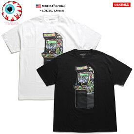 ミシカ MISHKA Tシャツ 半袖 メンズ 白 黒 ネオンカラー L XL 2L LL 2XL 3L XXL 大きいサイズ b系 ヒップホップ ストリート系 ファッション ブランド 服 かっこいい おしゃれ ゲームセンター KEEPWATCH キープウォッチ 目玉 人気キャラクター スカル ビッグシルエット 76946