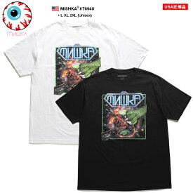 ミシカ MISHKA Tシャツ 半袖 メンズ 白 黒 L XL 2L LL 2XL 3L XXL 大きいサイズ b系 ヒップホップ ストリート系 ファッション ブランド 服 かっこいい おしゃれ ネオンカラー 正義のヒーロー 怪獣 地球 宇宙 ビッグシルエット 76940