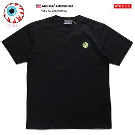 MISHKA Tシャツ 半袖 メンズ レディース 黒 M-2XL 大きいサイズ ミシカ かっこいい おしゃれ KEEPWATCH 目玉 人気キャラクター 切替 ハイモード b系 ヒップホップ ストリート系 ファッション ブランド 服 2021春夏 新作 M21000051
