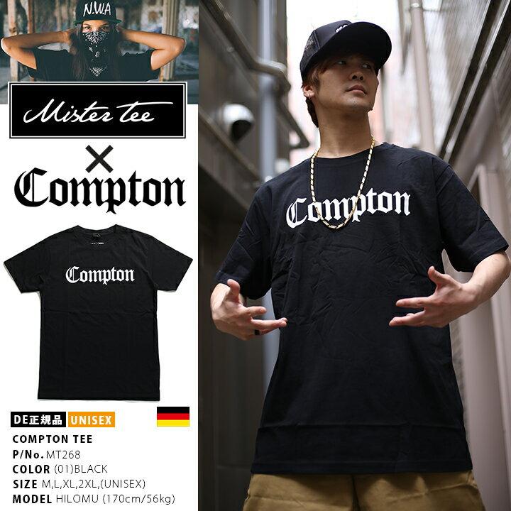 【送料無料】b系 ヒップホップ ストリート系 ファッション 服 メンズ Tシャツ 半袖 【MT268】 ミスター ティー MISTER TEE Compton コンプトン 正規版 アーティスト オールドイングリッシュフォント 黒 ブランド M L XL 2L LL 2XL 3L XXL 大きいサイズ 正規品【楽ギフ_包装】