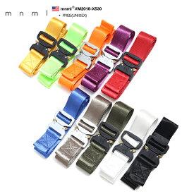 mnml ベルト メンズ レディース 全6色 22-58インチ対応 大きいサイズ ミニマル ロングサイズベルト ワンタッチ ナイロン かっこいい おしゃれ 無地 シンプル b系 ヒップホップ ストリート系 ファッション ブランド M2018-X530