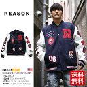 【送料無料】b系 ヒップホップ ストリート系 ファッション メンズ レディース アウター 【W8-58】 リーズン REASON スタジャン ウール …