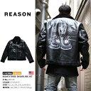 【送料無料】b系 ヒップホップ ストリート系 ファッション メンズ レディース アウター 【W8-98】 リーズン REASON 長袖 裏ボア付き 革…