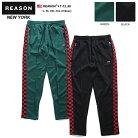 リーズン REASON トラックパンツ イージーパンツ ロングパンツ 長ズボン メンズ 赤緑 黒 L X…