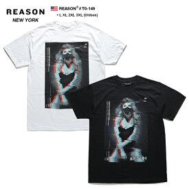 リーズン REASON Tシャツ 半袖 メンズ レディース 白 黒 L XL 2L LL 2XL 3L XXL 3XL 4L XXXL 大きいサイズ b系 ヒップホップ ストリート系 ファッション ブランド 服 かっこいい おしゃれ 美女 バンダナ ボックスロゴ ビッグシルエット アメリカ製 ギフト T0-149