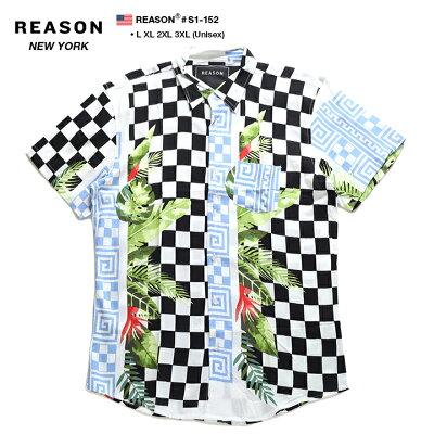 REASON(リーズン)の半袖シャツ(総柄)