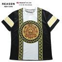 リーズン REASON ゲームシャツ Tシャツ 半袖 メンズ 黒 L XL 2L LL 2XL 3L XXL 3XL 4L XXXL 大きいサイズ b系 ヒップ…